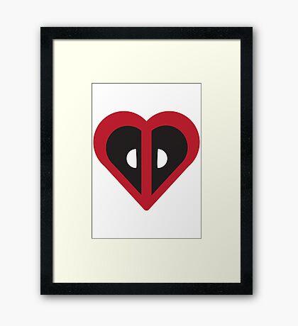 Deadpool Heart Marvel Framed Print