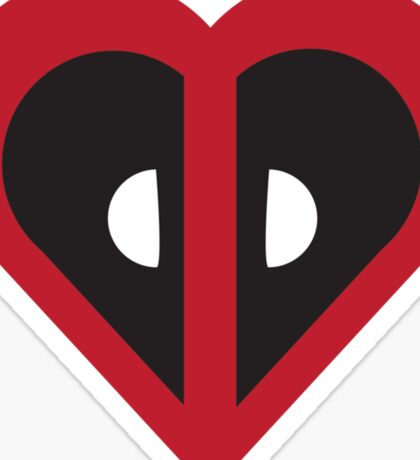Deadpool Heart Marvel Sticker