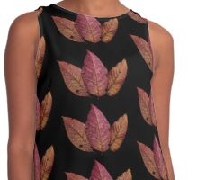 Pink and Orange Leaves  Contrast Tank