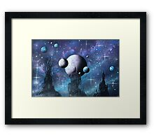 The Moon Wizard Framed Print