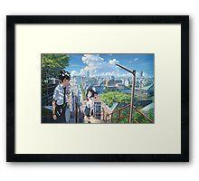 Kimi No Na Wa Stairs Framed Print