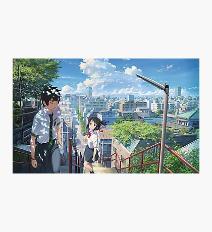 Kimi No Na Wa Stairs Photographic Print