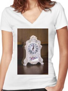 Old-fashioned Clock - Object Photography Women's Fitted V-Neck T-Shirt