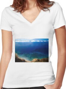 Wonderful Sea Coast - Nature Photography Women's Fitted V-Neck T-Shirt