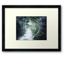 Emerald Forrest Framed Print