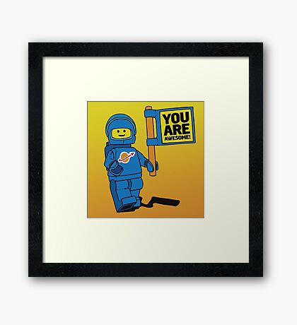 Lego-Inspired Benny | You Are Awesome!  Framed Print