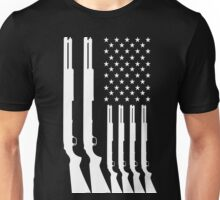 US American Flag HUNTING GUNS Unisex T-Shirt