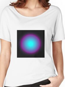 Circle Gradient - Cyan | Purple | Black Women's Relaxed Fit T-Shirt