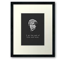 Tyrion. Framed Print
