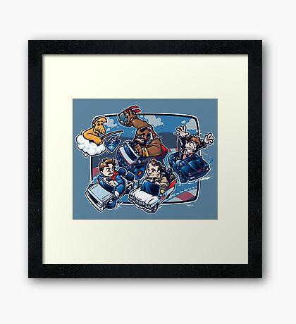 Super 80's Kart Framed Print