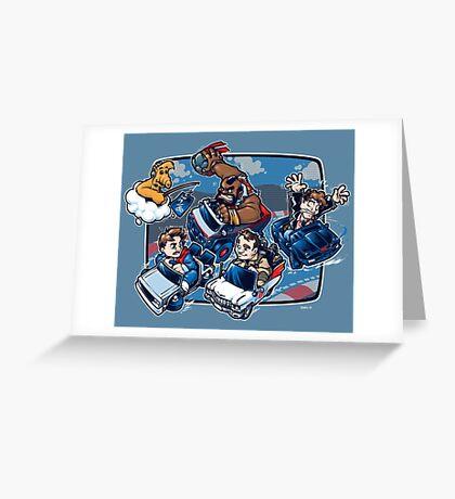 Super 80's Kart Greeting Card