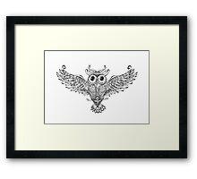 Owl Trace b&w Framed Print