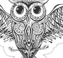 Owl Trace b&w Sticker