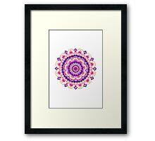 Mandala Pink Framed Print