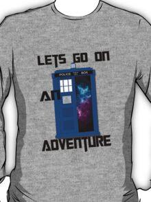 TARDIS- Let's go on an adventure #1 T-Shirt