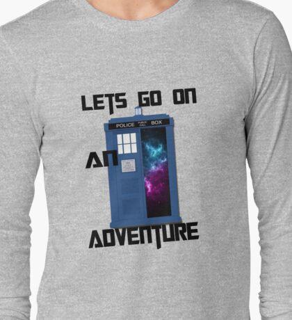 TARDIS- Let's go on an adventure #1 Long Sleeve T-Shirt