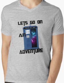 TARDIS- Let's go on an adventure #1 Mens V-Neck T-Shirt