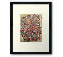 Abstract 1 Red And Blue Framed Print