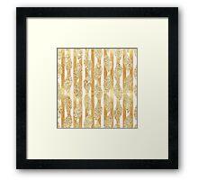 Gold,glitter,glam,stripes,vertical,white,rustic,modern,trendy,pattern,flowers Framed Print