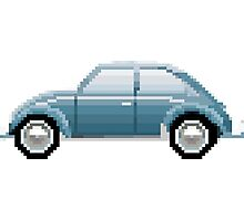VW Beetle Bug Pixel Art Photographic Print