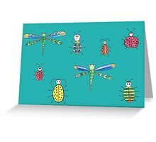 Little insects Greeting Card