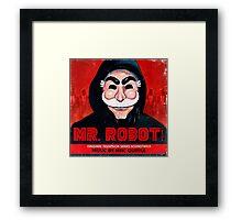 Mr Robot FSociety Framed Print