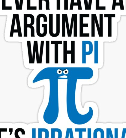 Pi is Irrational Sticker