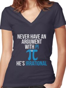 Pi is Irrational Women's Fitted V-Neck T-Shirt