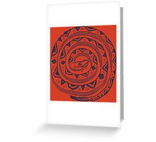 Coiled snake tee Greeting Card