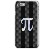 Pi Greek Letter Symbol Chrome Carbon Style iPhone Case/Skin
