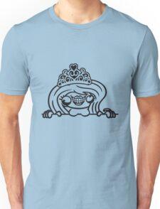 wand rahmen text hässlich monster girl sexy frau königin prinzessin queen krone krönchen mädchen niedlich süß gesicht comic cartoon design cool crazy verrückt verwirrt blöd dumm komisch gestört  Unisex T-Shirt