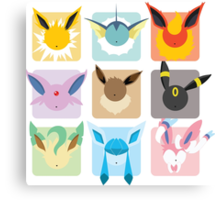 Eeveelutions Grid2 Canvas Print