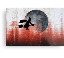 Halloween....A witch and her broomstick Metal Print