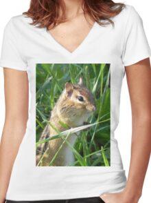 Chipmunk Women's Fitted V-Neck T-Shirt