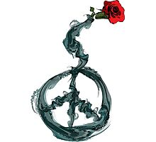 Peace and rose Photographic Print