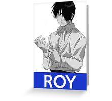 Roy Mustang Anime Manga Shirt Greeting Card