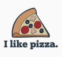 I like pizza. One Piece - Short Sleeve