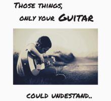 Guitar lover, Music addicted, #Guitarish style Kids Tee