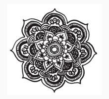 Hand drawn mandala flower One Piece - Short Sleeve