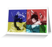 Edward Elric Roy Mustang Anime Manga Shirt Greeting Card