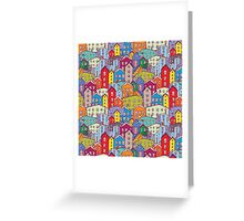 Cityscape seamless pattern. Sketch.  Greeting Card