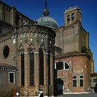 Side apse S Giovanni et S Paulo Cathedral Venice Italy 19840731 0072 by Fred Mitchell