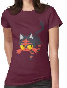 Litten Pokemon Sun and Moon Womens Fitted T-Shirt
