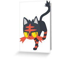 Litten Pokemon Sun and Moon Greeting Card