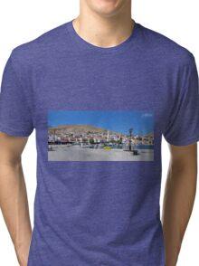 Halki Harbour Panorama Tri-blend T-Shirt