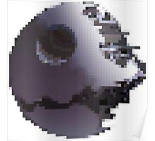 Pixel Art Death Star (Star Wars) Poster