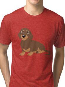 Miniature Dachshund - Chocolate Tri-blend T-Shirt