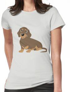 Miniature Dachshund - Chocolate Womens Fitted T-Shirt