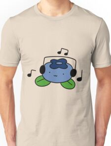 Bluberry with Headphones Unisex T-Shirt