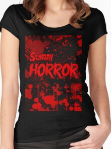 Sunday Horror Women's Fitted Scoop T-Shirt